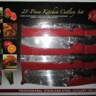 Chef Deluxe Miracle Edge CD-21 21 Piece KITCHEN Diamond CUTLERY Knife Set NEW