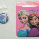 Disney FROZEN Tag Holder & Lapel Hat Tie Tack Pin Button Set Elsa Anna NEW
