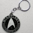 STAR TREK Black Starfleet Federation of Planets KEY CHAIN Ring Keychain NEW