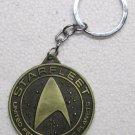 STAR TREK Bronze Starfleet Federation of Planets KEY CHAIN Ring Keychain NEW