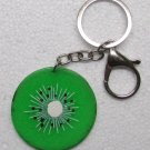 KIWI Slice Shape Fruit KEY CHAIN Ring Keychain NEW
