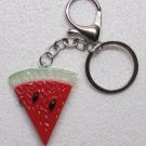 WATERMELON Slice Shape Fruit KEY CHAIN Ring Keychain NEW