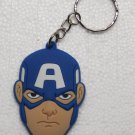 Avengers CAPTAIN AMERICA Rubber KEY CHAIN Ring Keychain NEW