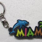 DOLPHIN MIAMI Palm Tree Chair Multi Color Rubber KEY CHAIN Ring Keychain NEW
