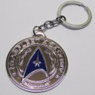 STAR TREK Starfleet Acadamy Silver Pendant Metal KEY CHAIN Ring Keychain NEW