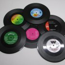 6pc Vintage Vinyl 33 45 rpm Record COASTERS Cup Pad Coffee Table Mats Bar NEW