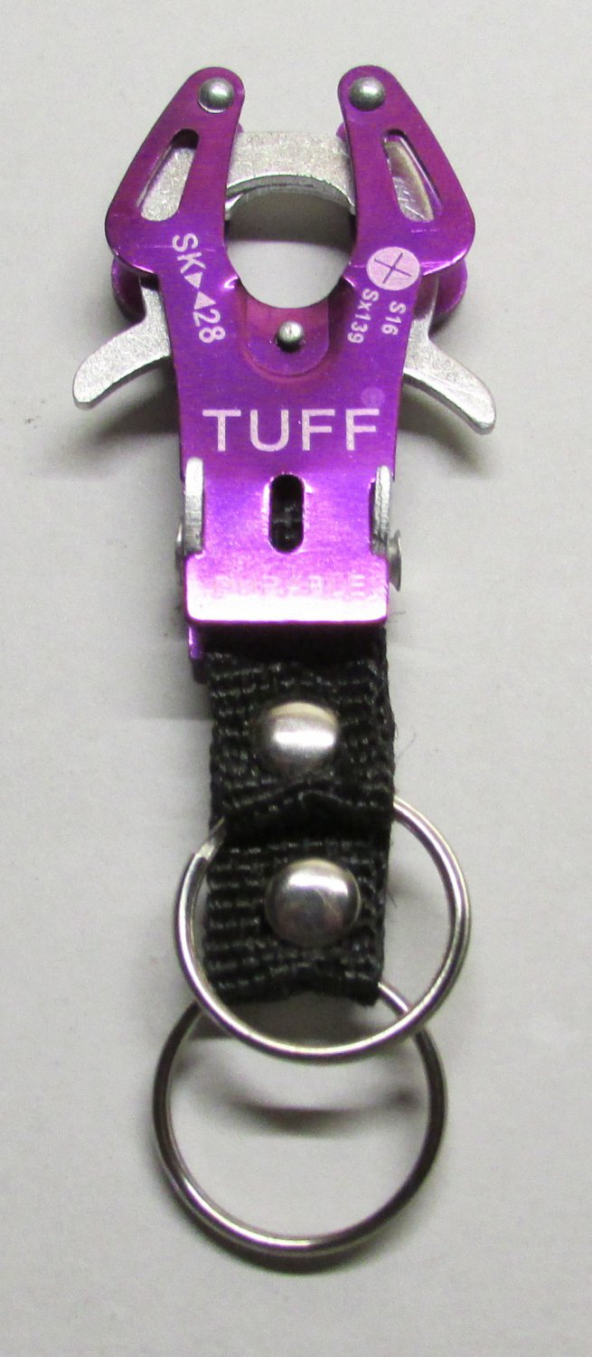 TUFF PURPLE Carabiner Camping Hiking Aluminu Outdoor KEY CHAIN Ring Keychain NEW