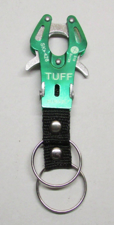 TUFF GREEN Carabiner Camping Hiking Aluminu Outdoor KEY CHAIN Ring Keychain NEW