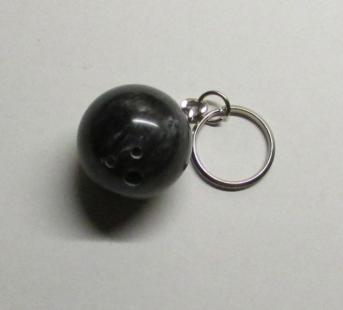 Official Elite BOWLING BALL Black KEY CHAIN Ring Keychain NEW