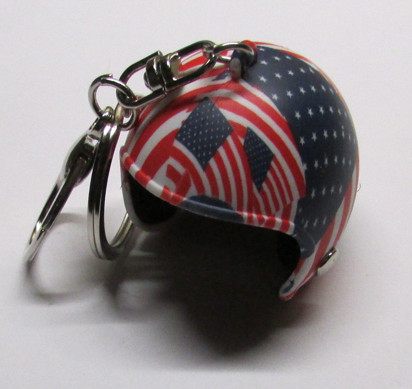 USA American Motorcycle Helmet KEY CHAIN Ring Keychain NEW