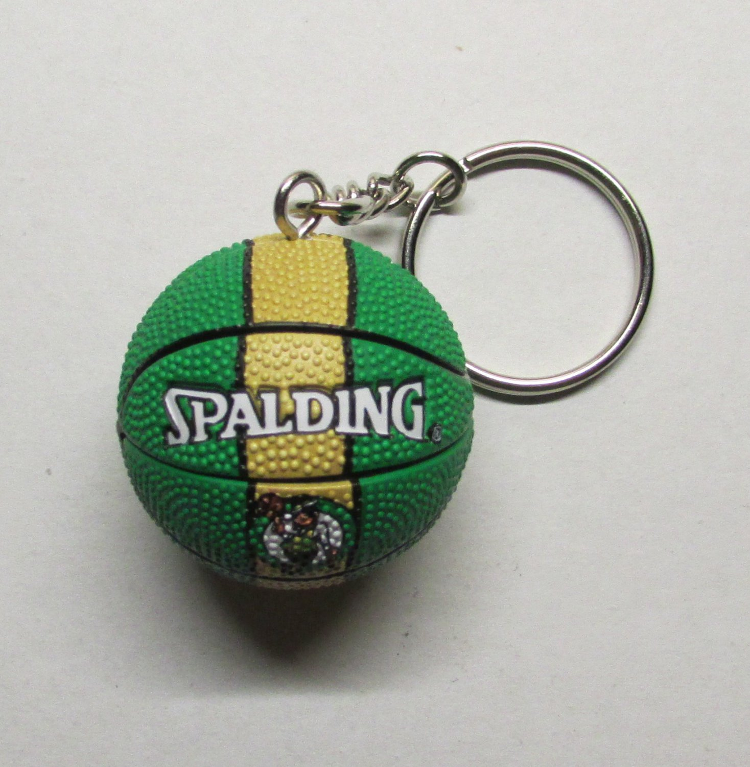 NBA Basketball Boston CELTICS Ball KEY CHAIN Ring Keychain NEW