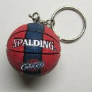 NBA Basketball CLEVELAND Cavs CAVALIERS Spalding Ball KEY CHAIN Ring Keychain NEW