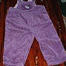 Oshkosh 24mth Purple Wide Leg Cord Overalls
