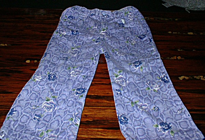 The Childrens Place 24mth Purple Snake Print and Roses pants