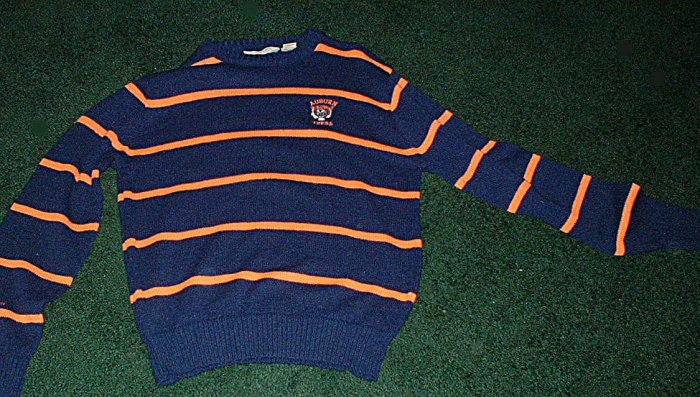 Size Large Auburn Tigers Striped Sweater LIKE NEW