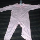 "9 Mth Gerber Pink ""I need a hug"" Footed Pajamas"