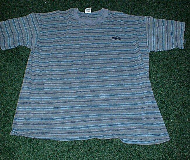 Mens NWOT Size Large Blue Stripes Quicksilver Shirt