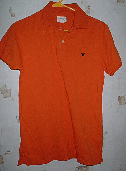 Guys American Eagle Orange Polo Shirt Size XS Extra Small
