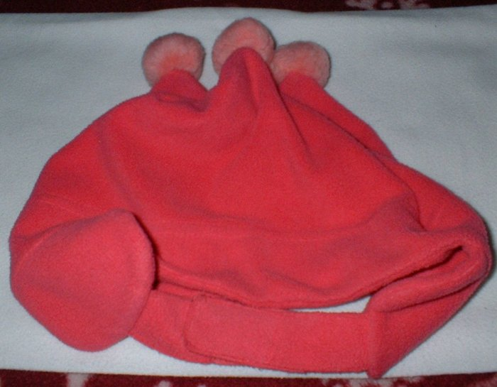 Girls 18-24mth Pink Fleece Pompom Winter Hat The Childrens Place
