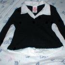 Girls Layerd Look Black Sweater Medium 6