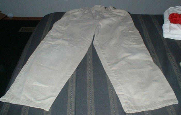 Boys Size 7 Cargo Khaki Pants VGUC