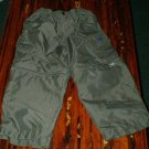 Boys Army Green Cargo Lined Zip Off Pants 4 5 EUC