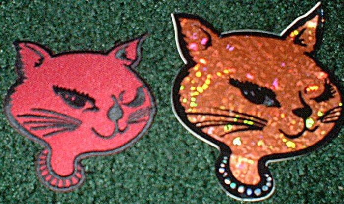 Kitty Face Patch and Matching Decal
