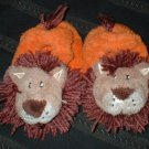 Infant Boys Terrycloth LionFace Slippers Size 1 2