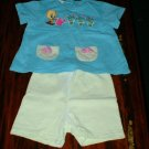 Girls 24 Mth Looney Tunes Shorts Set Tweety Bird