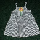 Girls 2T Black and White Sunflower Sundress