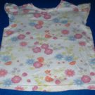 Girls 4T Flowered White Top