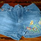 Girls Denim 5pocket Embroidered Shorts 3T