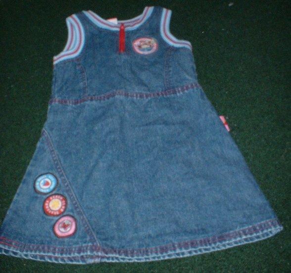 Girls Strawberry Shortcake Denim Dress Size 4