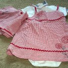 Girls NWT Dress, Shorts and Shirt set 24 months