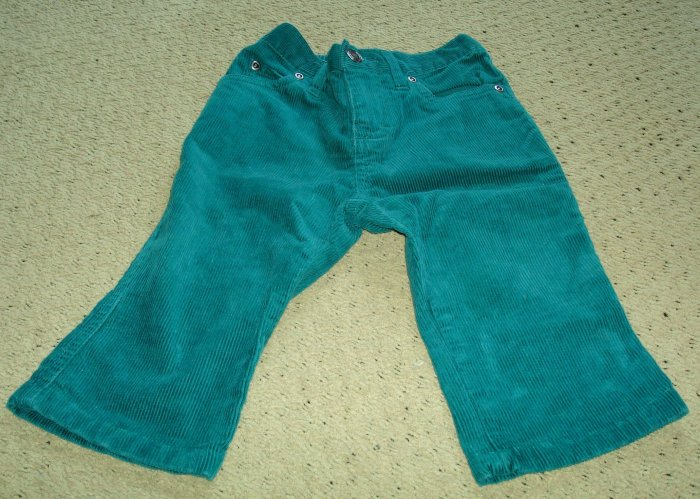 Girls Corduroy Flare Leg Stretch Capris 2T