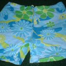 Girls Bright Summer Flowered Shorts 4 5