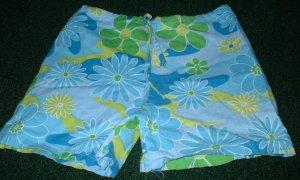 Girls Bright Summer Flowered Shorts 4 5