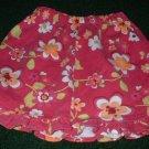 Girls Flowered Skirt with Ruffle 4T