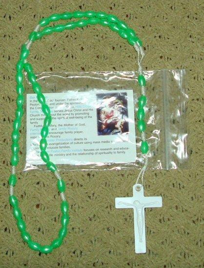 NIP Lime Green Rosary Free Shipping