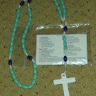 NIP Teal & Royal Blue Rosary Free Shipping