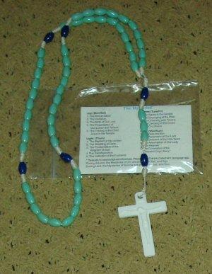 NIP Teal & Royal Blue Rosary Free Shipping