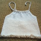 Girls White Rib Knit Halter Top sz 6