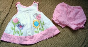 Girls Spring Flowers Babydoll Top and Bloomers 2T