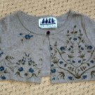 Girls Bolero Jacket Shrug Green Vine Print Size 4