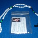 NIP White, Green and BlackRosary Free Shipping