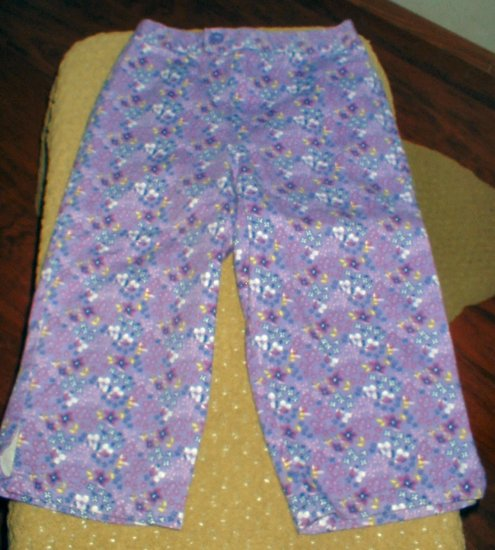 Girls Flower Print Capris 5