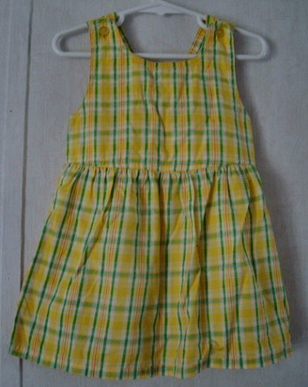 Girls 3T Green and Yellow Summer Plaid Dress
