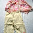 Girls Sheer Flutter Top and Capris 4T