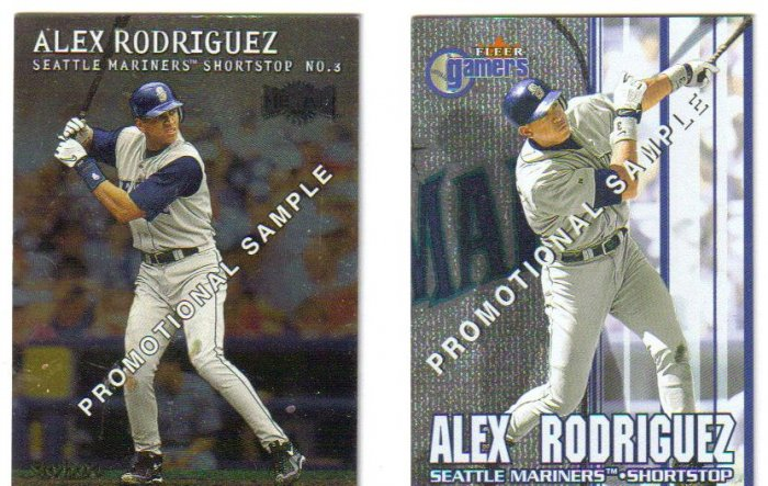 2 Alex Rodriguez Promo cards Seattle Mariners