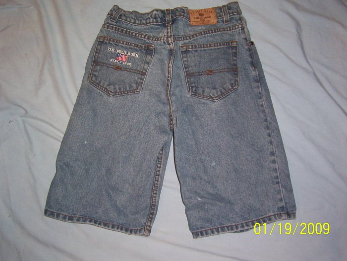 U.S.POLO ASSN.,BLUE JEAN,DENIM SHORTS,BOYS SZ.18